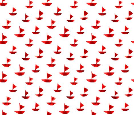 The Scarlet Sailes fabric by artishark on Spoonflower - custom fabric