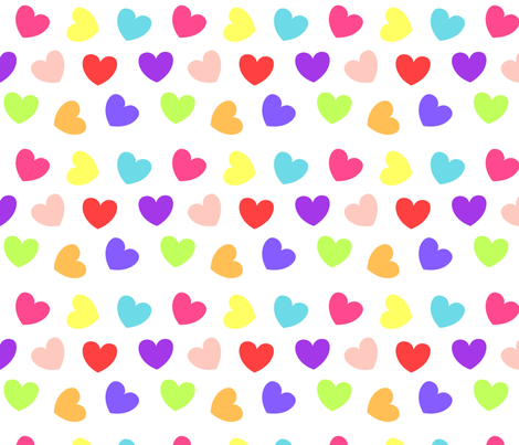 Be My Valentine Love Hearts fabric by adorablest on Spoonflower - custom fabric