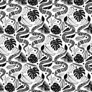 Tribal Black Mambas - White  (Small version)