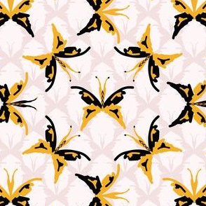 Retro 1960s Style Butterflies