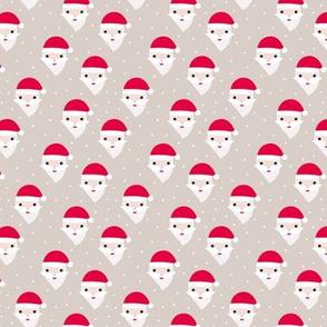 Little cute santa kawaii Christmas winter wonderland snow beige