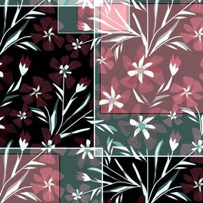 Floral patchwork.