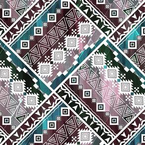 Ethnic patchwork.