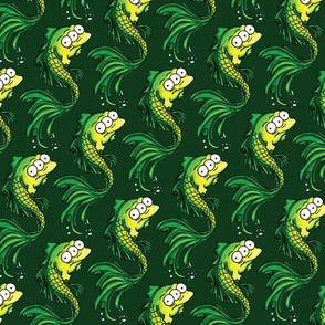 Green Fish - Dark Green