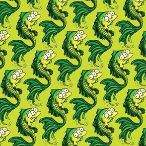 Green Fish - Lime Green