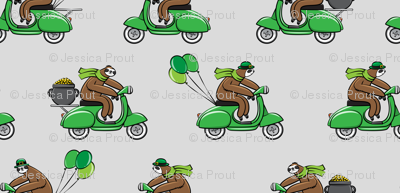 Scooter Sloths  - St Patrick's Day - Grey