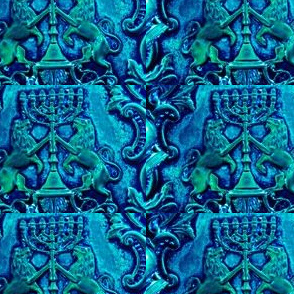 Polish Menorah - Majestic Blue Azure