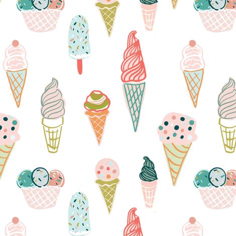 Ice-Cream-Cone 6x6 fabric by indybloomdesign on Spoonflower - custom fabric