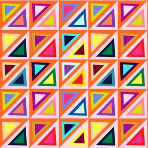 Pastel + Brights Spring Triangle Pattern