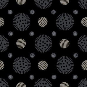 Abstract Geometric Button Dot Grid