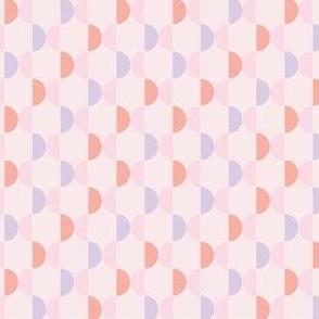 pastel half circle stripes-pink