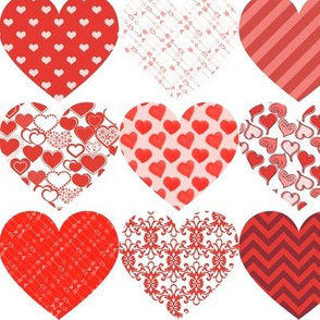 """Valentine's Day Heart Pattern Silhouettes 3"""" wide"""