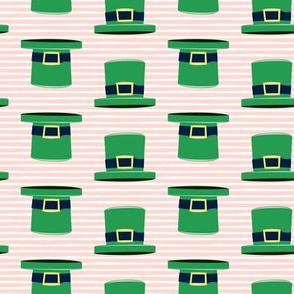 Leprechaun hats - pink stripes
