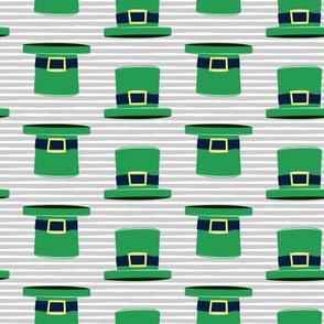 Leprechaun hats - grey stripes