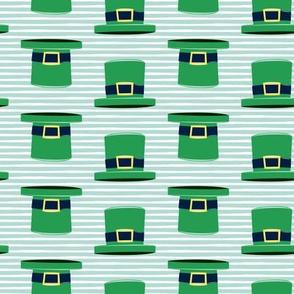 Leprechaun hats - mint stripes