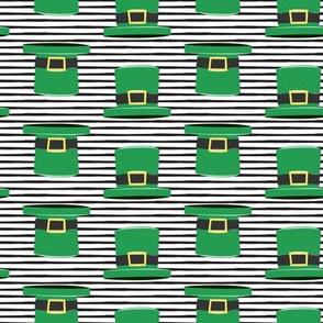 Leprechaun hats - black stripes