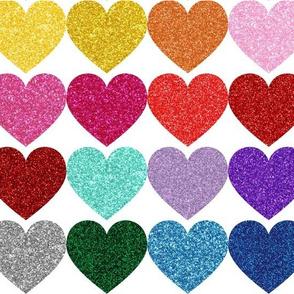 "Glitter Hearts 3"" wide"