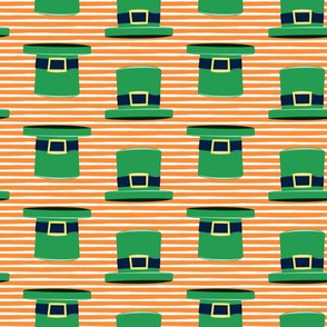 Leprechaun hats - orange stripes