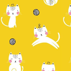 cat kitten playful yellow kids nursery