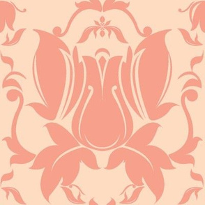 Hollywood Damask in Peach