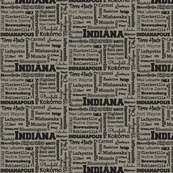 Indiana cities, standard taupe
