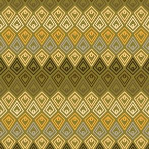 Scandi Flowers - Mustard and Green - Diamond Coordinate