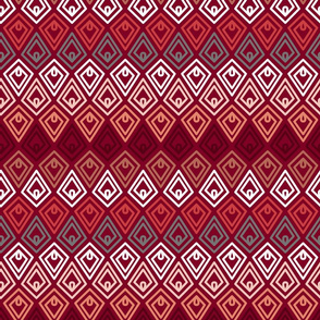 Scandi Flowers - Pink and Orange - Diamond Coordinate