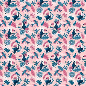 Tropical Toucans - SMALL - pink