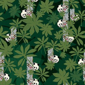 Peeping Pandas in deep forest