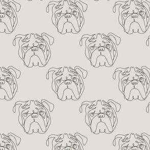 One Line English Bulldog