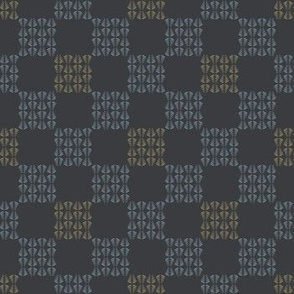 Gray Abstract Chequered Grid