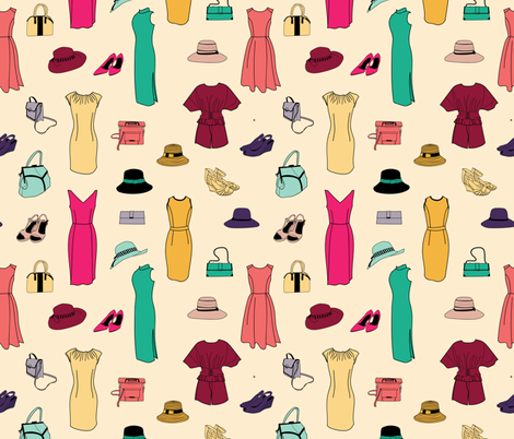 L.Yellow_Outfits_Vintage_Stock fabric by evy_v_design on Spoonflower - custom fabric