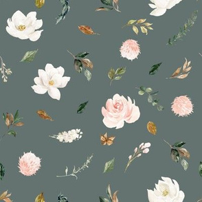 "8"" Magnolia Floral Stems // Corduroy Olive"