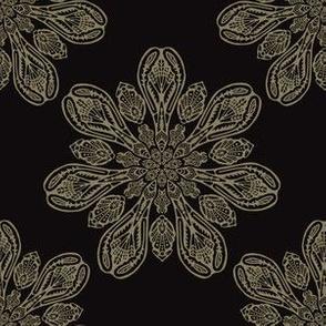 Boho Arabesque Ornamental Mandala