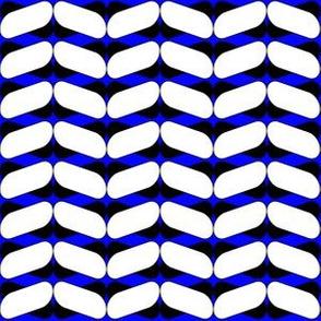 70s chevrons black blue