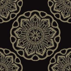Circle Flourish Floral Mandala