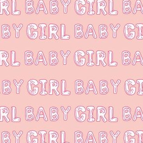 baby girl balloon fabric - baby girl, expecting fabric, pregnancy fabric, congratulations - white