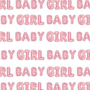 baby girl balloon fabric - baby girl, expecting fabric, pregnancy fabric, congratulations - pink
