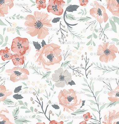 Small-Medium Soft Meadow Floral