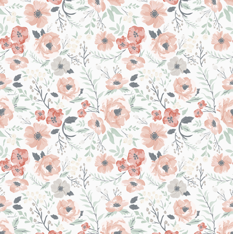 Small-Medium Soft Meadow Floral fabric by sweeterthanhoney on Spoonflower - custom fabric
