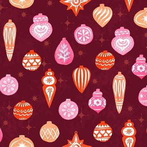 Warm Retro Christmas Ornaments