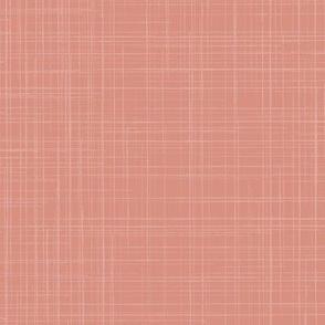 18-01u Linen Texture Terra Cotta