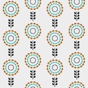 Floral geometric vintage pattern