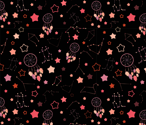 Catch your dream in the sky fabric by aurora_quilling on Spoonflower - custom fabric