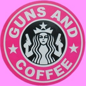 guns and coffee pink