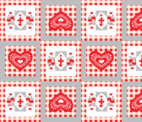 Scandi Hearts Chalet fabric by het on Spoonflower - custom fabric