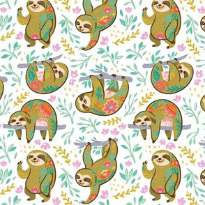 Beautiful blooming sloths 2