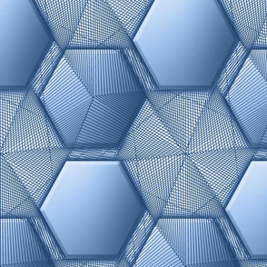 hexagons3blue