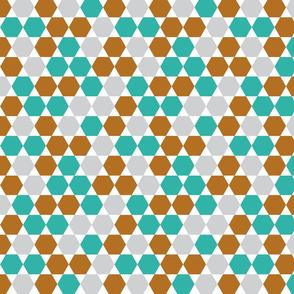 geometric hexagon teal