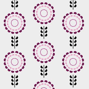 Floral geometric purple vintage